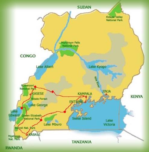 uganda kartta